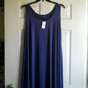Blue high/low dress NWT